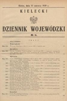 Kielecki Dziennik Wojewódzki. 1939, nr11