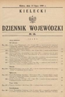 Kielecki Dziennik Wojewódzki. 1939, nr13