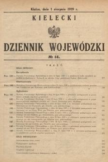 Kielecki Dziennik Wojewódzki. 1939, nr14