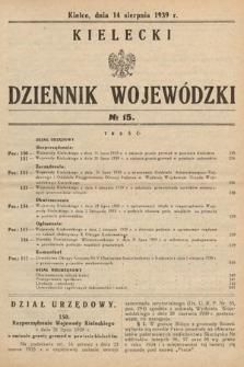 Kielecki Dziennik Wojewódzki. 1939, nr15