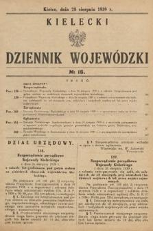 Kielecki Dziennik Wojewódzki. 1939, nr16