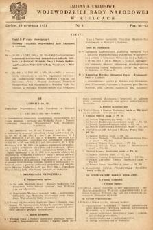 Dziennik Urzędowy Wojewódzkiej Rady Narodowej w Kielcach. 1951, nr8