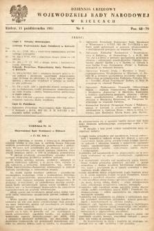 Dziennik Urzędowy Wojewódzkiej Rady Narodowej w Kielcach. 1951, nr9