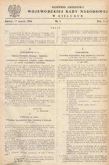 Dziennik Urzędowy Wojewódzkiej Rady Narodowej w Kielcach. 1954, nr3