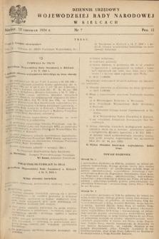 Dziennik Urzędowy Wojewódzkiej Rady Narodowej w Kielcach. 1954, nr7