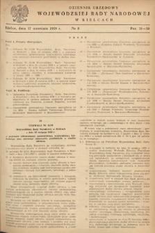 Dziennik Urzędowy Wojewódzkiej Rady Narodowej w Kielcach. 1959, nr8