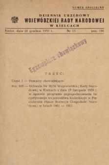 Dziennik Urzędowy Wojewódzkiej Rady Narodowej w Kielcach. 1959, nr15