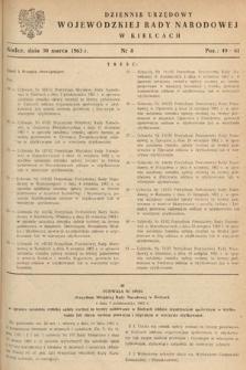 Dziennik Urzędowy Wojewódzkiej Rady Narodowej w Kielcach. 1963, nr8