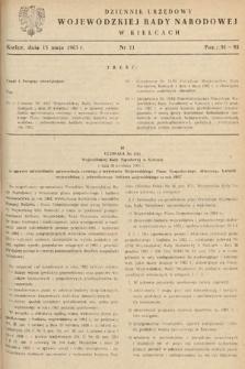 Dziennik Urzędowy Wojewódzkiej Rady Narodowej w Kielcach. 1963, nr11