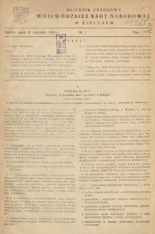 Dziennik Urzędowy Wojewódzkiej Rady Narodowej w Kielcach. 1964, nr1