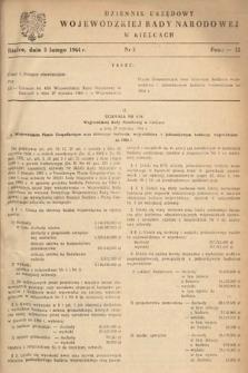 Dziennik Urzędowy Wojewódzkiej Rady Narodowej w Kielcach. 1964, nr3