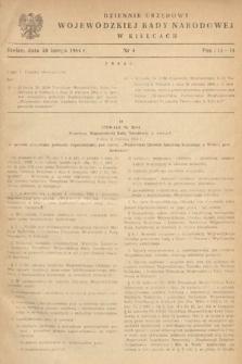 Dziennik Urzędowy Wojewódzkiej Rady Narodowej w Kielcach. 1964, nr4
