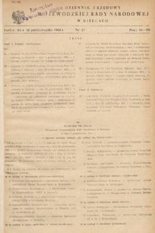 Dziennik Urzędowy Wojewódzkiej Rady Narodowej w Kielcach. 1964, nr17