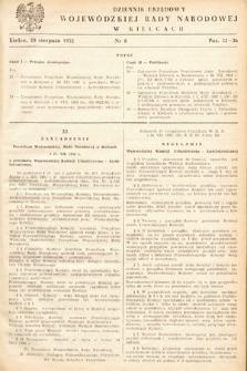 Dziennik Urzędowy Wojewódzkiej Rady Narodowej w Kielcach. 1952, nr8