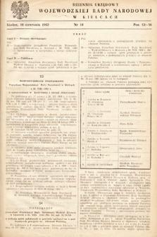 Dziennik Urzędowy Wojewódzkiej Rady Narodowej w Kielcach. 1952, nr10