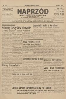 Naprzód : organ Polskiej Partji Socjalistycznej. 1937, nr103