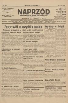 Naprzód : organ Polskiej Partji Socjalistycznej. 1937, nr107