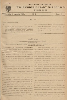 Dziennik Urzędowy Wojewódzkiej Rady Narodowej w Kielcach. 1965, nr3