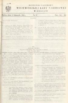 Dziennik Urzędowy Wojewódzkiej Rady Narodowej w Kielcach. 1965, nr27