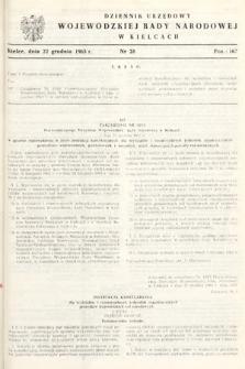 Dziennik Urzędowy Wojewódzkiej Rady Narodowej w Kielcach. 1965, nr28
