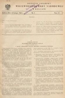 Dziennik Urzędowy Wojewódzkiej Rady Narodowej w Kielcach. 1966, nr3