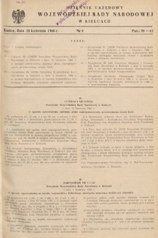 Dziennik Urzędowy Wojewódzkiej Rady Narodowej w Kielcach. 1966, nr8