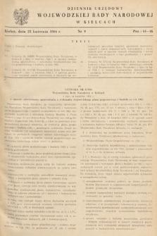 Dziennik Urzędowy Wojewódzkiej Rady Narodowej w Kielcach. 1966, nr9