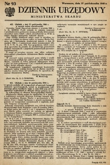Dziennik Urzędowy Ministerstwa Skarbu. 1948, nr93