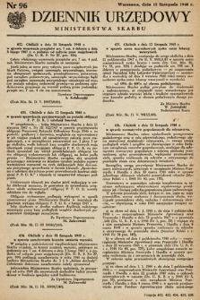 Dziennik Urzędowy Ministerstwa Skarbu. 1948, nr96