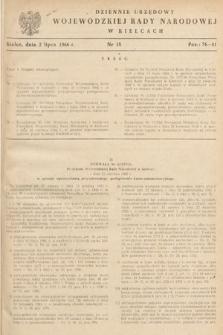 Dziennik Urzędowy Wojewódzkiej Rady Narodowej w Kielcach. 1966, nr15