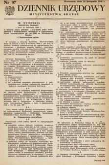 Dziennik Urzędowy Ministerstwa Skarbu. 1948, nr97