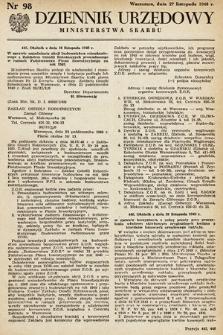 Dziennik Urzędowy Ministerstwa Skarbu. 1948, nr98