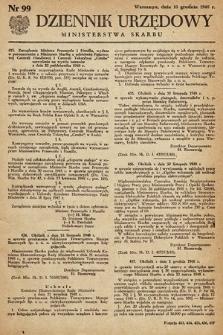 Dziennik Urzędowy Ministerstwa Skarbu. 1948, nr99