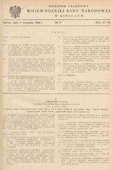 Dziennik Urzędowy Wojewódzkiej Rady Narodowej w Kielcach. 1966, nr17