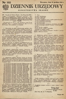Dziennik Urzędowy Ministerstwa Skarbu. 1948, nr102