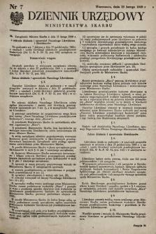 Dziennik Urzędowy Ministerstwa Skarbu. 1949, nr7