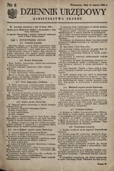 Dziennik Urzędowy Ministerstwa Skarbu. 1949, nr8