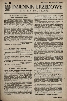 Dziennik Urzędowy Ministerstwa Skarbu. 1949, nr10