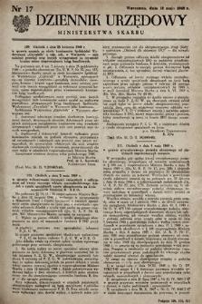 Dziennik Urzędowy Ministerstwa Skarbu. 1949, nr17