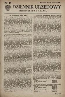 Dziennik Urzędowy Ministerstwa Skarbu. 1949, nr19