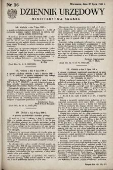 Dziennik Urzędowy Ministerstwa Skarbu. 1949, nr26