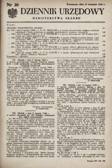 Dziennik Urzędowy Ministerstwa Skarbu. 1949, nr30