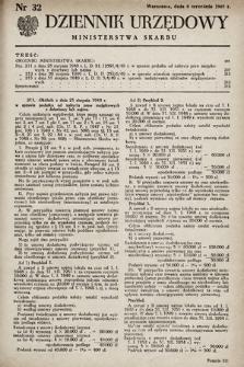 Dziennik Urzędowy Ministerstwa Skarbu. 1949, nr32