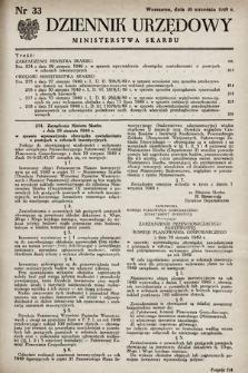 Dziennik Urzędowy Ministerstwa Skarbu. 1949, nr33