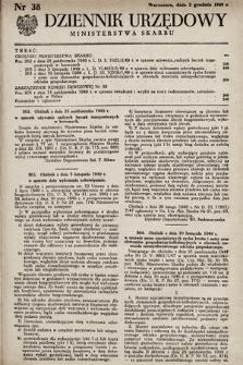 Dziennik Urzędowy Ministerstwa Skarbu. 1949, nr38