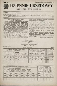 Dziennik Urzędowy Ministerstwa Skarbu. 1949, nr41