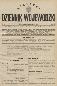 Kielecki Dziennik Wojewódzki. 1928, nr3