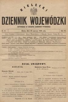 Kielecki Dziennik Wojewódzki. 1928, nr15