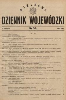 Kielecki Dziennik Wojewódzki. 1928, nr36