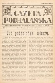 Gazeta Podhalańska : tygodnik poświęcony sprawom Podhala, Spisza, Orawy. 1932, nr3
